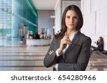 Small photo of Smart intelligent executive financial officer cfo at major bank for global stock market investment