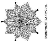 mandalas for coloring book.... | Shutterstock .eps vector #654292246