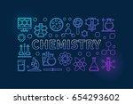 chemistry outline background.... | Shutterstock .eps vector #654293602