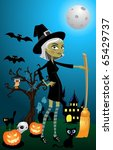 halloween night vector | Shutterstock .eps vector #65429737