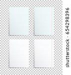 assorted paper sheets. vector... | Shutterstock .eps vector #654298396