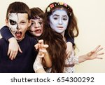 Zombie Apocalypse Kids Concept. ...