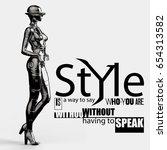 3d illustration. futuristic...   Shutterstock . vector #654313582