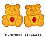 baking for children cookies... | Shutterstock . vector #654321655