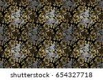 seamless oriental classic... | Shutterstock . vector #654327718