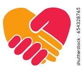 handshake heart | Shutterstock .eps vector #654328765