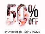 50  off discount promotion sale ... | Shutterstock . vector #654340228