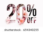 20  off discount promotion sale ... | Shutterstock . vector #654340255