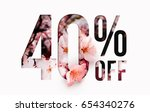 40  off discount promotion sale ... | Shutterstock . vector #654340276