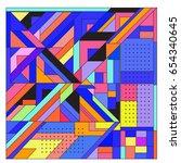 trendy geometric elements... | Shutterstock .eps vector #654340645