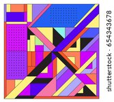 trendy geometric elements... | Shutterstock .eps vector #654343678