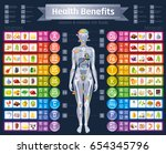 mineral vitamin supplement... | Shutterstock .eps vector #654345796
