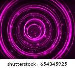 Neon Purple Circles Vector...