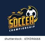 modern professional sports... | Shutterstock .eps vector #654346666
