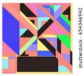 trendy geometric elements... | Shutterstock .eps vector #654346942