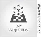 logo of device virtual ar... | Shutterstock .eps vector #654347962