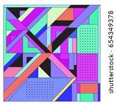 trendy geometric elements... | Shutterstock .eps vector #654349378