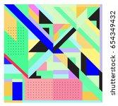 trendy geometric elements...   Shutterstock .eps vector #654349432