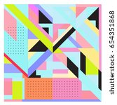 trendy geometric elements... | Shutterstock .eps vector #654351868