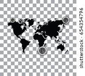 vector worldwide searching... | Shutterstock .eps vector #654354796