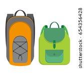 sport style and women backpack  ... | Shutterstock .eps vector #654356428