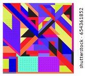 trendy geometric elements... | Shutterstock .eps vector #654361852