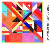 trendy geometric elements... | Shutterstock .eps vector #654361888