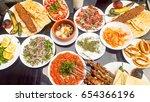 turkish foods  adana kebab ... | Shutterstock . vector #654366196
