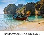 sunset phi phi le island bay... | Shutterstock . vector #654371668