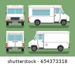 cartoon delivery white blank...   Shutterstock .eps vector #654373318