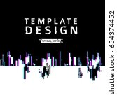 template design banner glitch... | Shutterstock .eps vector #654374452