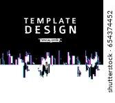 template design banner glitch... | Shutterstock .eps vector #654374452