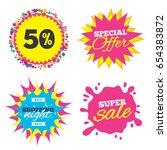 sale splash banner  special... | Shutterstock .eps vector #654383872