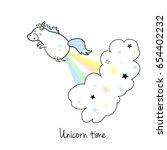 unicorn vector icon isolated on ... | Shutterstock .eps vector #654402232