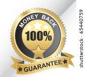 vector money back label | Shutterstock .eps vector #65440759