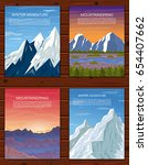 mountain landscapes set.... | Shutterstock .eps vector #654407662