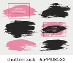 set of black and pink paint ... | Shutterstock .eps vector #654408532