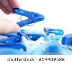 laundry pegs | Shutterstock . vector #654409588