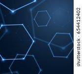 abstract hexagon background ... | Shutterstock .eps vector #654412402