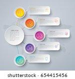 infographics design vector and... | Shutterstock .eps vector #654415456
