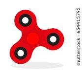fidget spinner | Shutterstock .eps vector #654415792