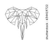 geometrical elephant | Shutterstock .eps vector #654419722