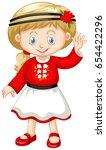 little girl in ukrain outfit...