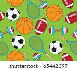 seamless sports elements | Shutterstock .eps vector #65442397