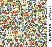 seamless healthy food pattern.... | Shutterstock .eps vector #65442814