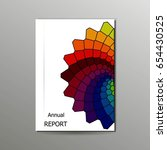 colorful annual report  flyer ... | Shutterstock .eps vector #654430525