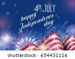 4th of july  american... | Shutterstock .eps vector #654431116