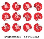 paper sale stickers collection  | Shutterstock .eps vector #654438265