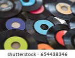 vinyl records background | Shutterstock . vector #654438346