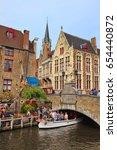 bruges  belgium   oct 04  2014  ... | Shutterstock . vector #654440872